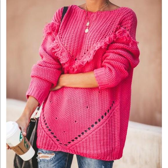 VICI • fringe sweater NWT